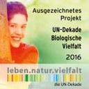 """GBoL: """"ausgezeichnetes Projekt UN – Dekade biologische Vielfalt 2016"""""""